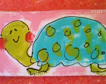 Sweet Turtle Bookmark Handpainted Made To Order