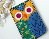 Felt Owl iPhone Blackberry Samsung Phone Case Cozy MADE TO ORDER