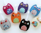 Wholesale Lot of 8 Eco Felt Kitty Cat Ornaments Party Favors Gifts