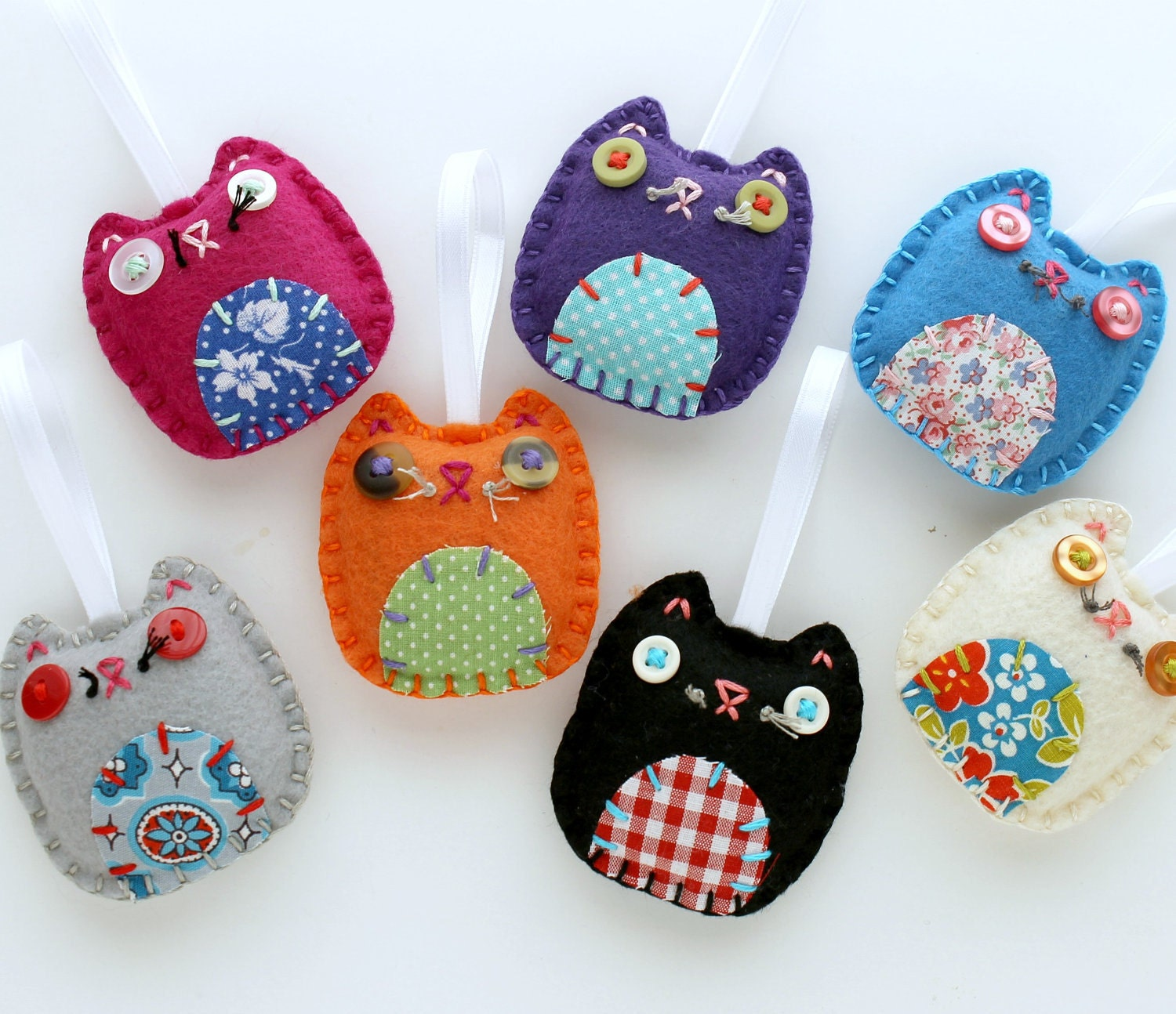 Christmas Tree Shaped Ornaments Are Handmade From 100 Recycled Eco Friendly Felt Hand