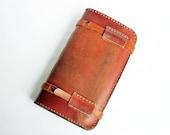 Extra Large Vintage Leather Travel Journal / Artist Sketchbook