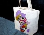 Shape of Africa Tote Bag