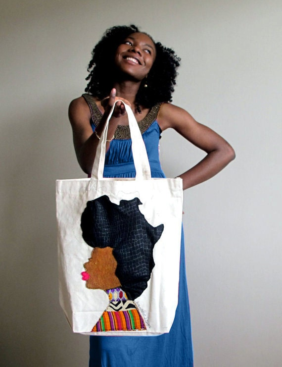 Afro Woman Tote Bag