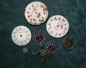 Clock parts for steampunk, assemblage or jewelry