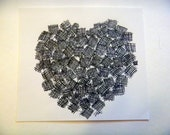 Crosshatch Heart Original Drawing
