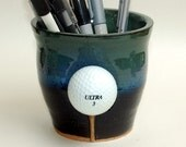 Fathers Day Gift / Golf Ball Pencil Holder / Coin Pot / Tooth Brush Holder