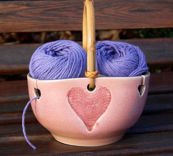 Heart Yarn Bowl / Knitting / Crochet / Needlecrafts
