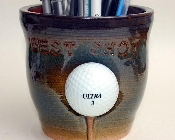 Golf Ball Pencil Holder / Best Shot / Coin Pot / Tooth Brush Holder