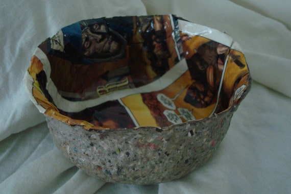 Recycled Comic Book Paper Bowl