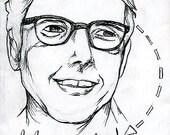 Ira Glass Print.