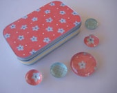 SALE - Flowers and Dots - Gift Tin Set