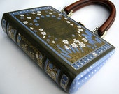 Book Purse Handbag Jane Austen - Extra Thick-As Seen in VOGUE Magazine-