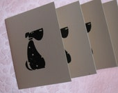 3 sets of cards and envelopes, Embossed Dog RESERVED
