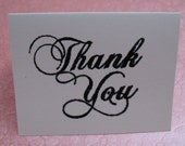 Set of 5 Mini Cards, Embossed Thank You