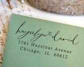 Address Stamp, Self Inking Return Address Stamp, Return Address Stamp Self Ink, Custom and Personalized Stamp, Wedding Gift - 1029