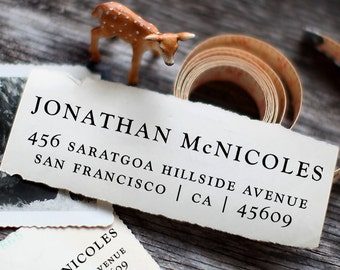 Self Inking Address Stamp - Custom Address Stamp - Return Address Stamp - Personalized Gift - Housewarming Gift - Wedding Stamp - 1045