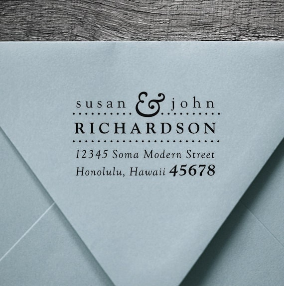 Address Stamp, Wood Handle, Personalized Gift, Custom Address Rubber Stamp - housewarming or wedding gift - 1053