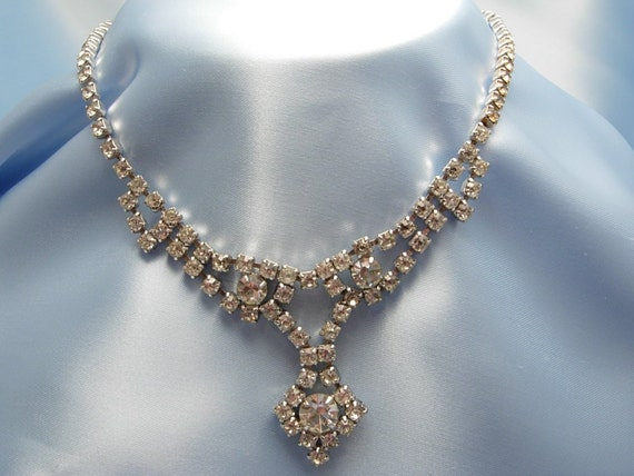 Vintage Bride's Rhinestone Necklace FREE SHIPPING