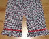 Cherry Gingham Ruffle Pants -- 3T