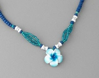Aloha Beaded Flower Necklace