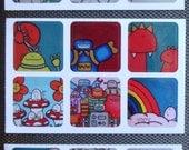 Cute Chep Art Stickers from Tekzuki - Set of 18