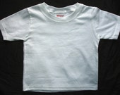 White Plain Blank T-shirt Ready To Embroider Or Print Wholesale Prices Baby Toddler Tee 24 months