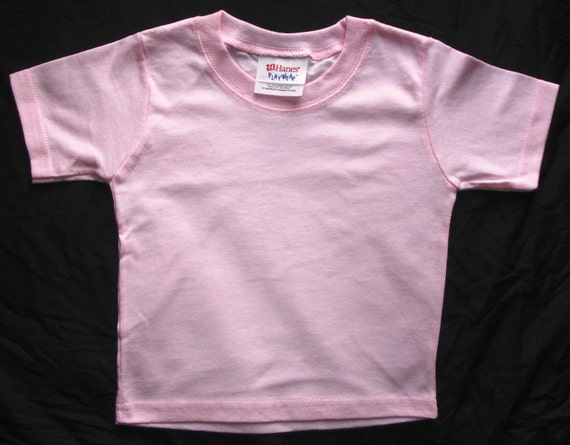 Pink plain blank t shirt ready to embroider or print wholesale for Plain t shirts to print on