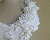 FLORA TEE - black, white or naked