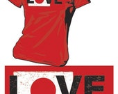 I Love Japan - Donate to Japan Relief - LADIES Tshirt