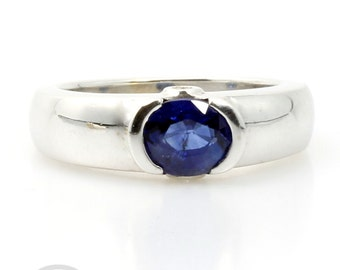 Blue Sapphire Engagement Ring  - 2012042 -