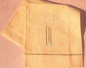 Vintage Embroidered Linen Towel ... Helen is one hell of a hostess.