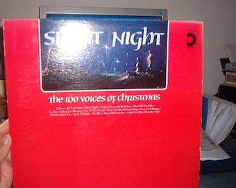 Vintage Silent Night Christmas Record 33 1/3 Has 12 songs Pickwick Records
