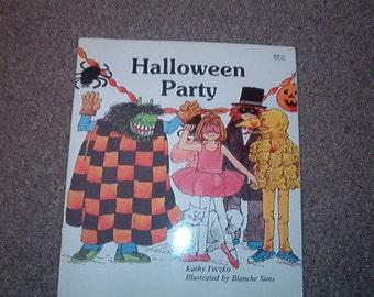 1985 Childrens Halloween Book Halloween Party by Kathy Feczko