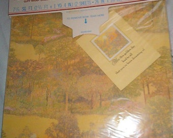 Vintage Hallmark Gift Wrap & Card Sealed in Package