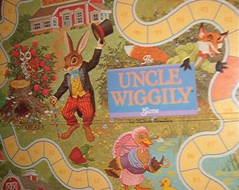 1988 The Uncle Wiggley Game Milton Bradley Ages 4-7