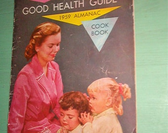1959 Rawleigh's Good Health Guild Cookbook and Almanac 70th Anniversary Issue