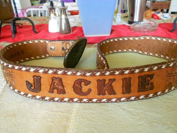 Vintage Leather Belt Vintage Leather Belt With Name