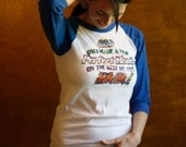 HAIR - Glitter Iron On - Vintage Baseball Shirt - XS S