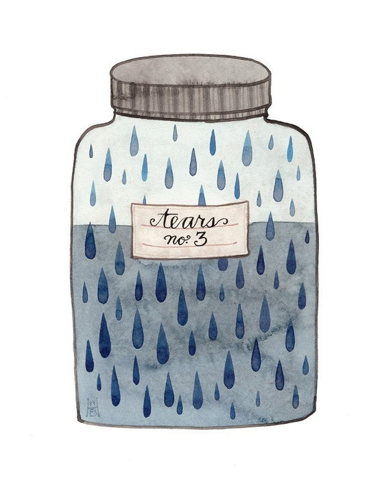 Lachrymatory Jar of Tears No. 3 original watercolor painting