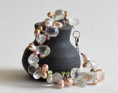Watermelon Tourmaline Bracelet - Topaz Bracelet - Wedding Jewelry