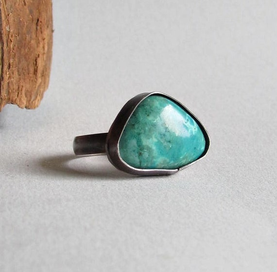 Turquoise Ring - women's size 8 -
