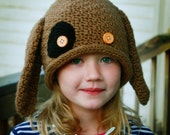 Easy Crochet Hat Pattern - Puppy Dog Hat - child kid size - Fun Photography Prop - Instant Download
