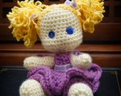 Cute Crochet Doll Pattern - Little Lexi Doll PDF Pattern - Stuffed Doll with Moveable Limbs - amigurumi - Instant Download