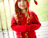 Crochet Hat Pattern - Christmas Elf Hat - EASY -  Child Size - PDF pattern - Instand Download