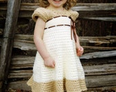 Crochet Dress Pattern - Carlotta Crochet Dress with Sleeves - Baby, Child, Custom Sizes - PDF pattern - Instant Download