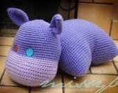 Crochet Hippo Pillow Pet Pattern - Hippo Stuffed Pillow Animal Toy - kids favorite - PDF Pattern - Instant Download