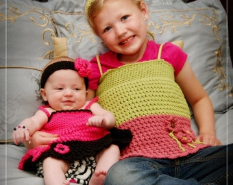 Easy Crochet Dress Pattern - Tess Shirt or Dress for Summer - PDF pattern - Make it Any Custom Size - Instant Download