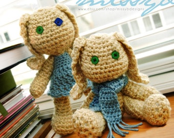 Easy Crochet Bunny Pattern - amigurumi toy - Stuffed Bunny Rabbit - PDF Pattern - Instant Download