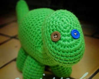 Cute Crochet Dinosaur Pattern - Amigurumi Pattern - Stuffed Long Neck Dinosaur Toy - PDF Pattern - Instant Download