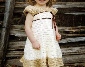 Crochet Dress Pattern - Carlotta Crochet Dress with Sleeves - Baby, Child, Custom Sizes - PDF pattern - Instant Download